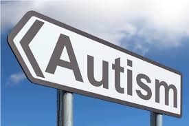 A signpost that says autism. Sign of autism
