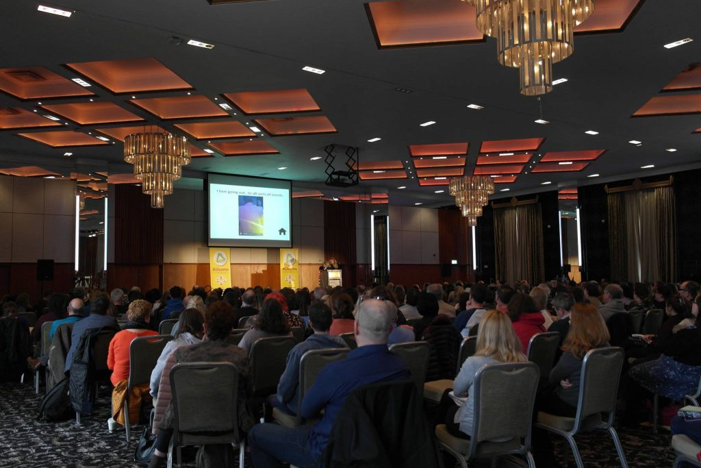 The audience at Ireland's first ever Autistic conference