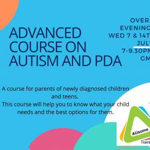 advanced course on autism and PDA