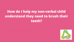 How do I help my non-verbal child understand they need to brush their teeth?